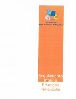 REGULAMENTO INTERNO EDUCAÇÃO PRÉ-ESCOLAR