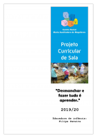 Projeto Curricular 2019-2020 sala 3-4 anos