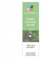 Projeto curricular 2019-2020 sala 1-2 anos