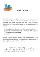 Convocatória Assembleia Geral Ordinária 30-11-2020